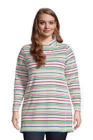 Women's Plus Size Fleece Tunic Pullover Top Print