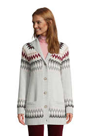 Women's Cotton Cable Drifter Shawl Cardigan Sweater - Jacquard