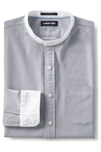 Men's Sail Rigger Oxford Grandad Shirt, Tailored Fit