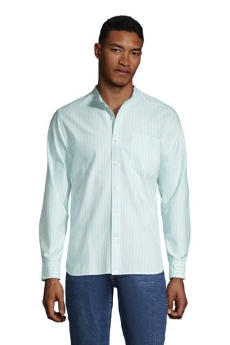 Chemise Oxford Col Officier Manches Longues Coupe Moderne, Homme Stature Standard