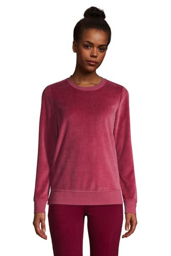 Women's Velour Long Sleeve Sweatshirt