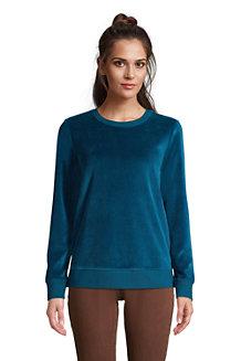 Women's Velour Long Sleeve Sweatshirt