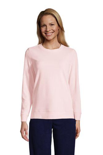 Sweatshirt en Velours à Manches Longues, Femme Stature Standard
