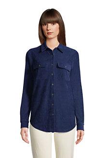 Stretchcord-Bluse für Damen