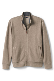 Men's Brushed Rib Knit Zip Front Jacket