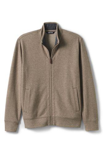 Men's Brushed Rib Knit Zip Front Jacket