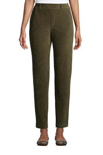 Pantalon Fuselé Taille Haute Sport Cord, Femme Stature Standard