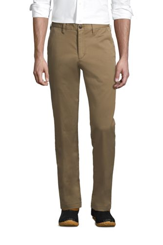 Straight Fit Stretch-Chinos mit Flanellfutter für Herren