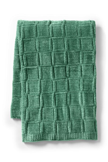 Chenille Boxstitch Throw Blanket
