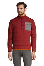 Men's Tall Quilted Quarter Snap Neck Pullover Jacket