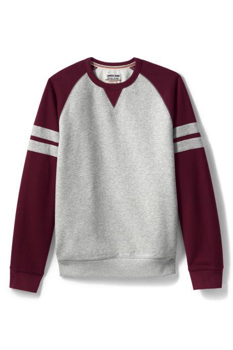 Men's Long Sleeve Serious Sweats Raglan Colorblock Crewneck Sweat Sweatshirt