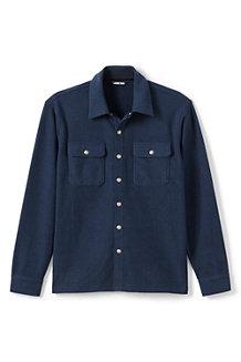 Men's Textured Cosy Shirt Jacket