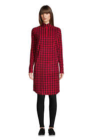 Women's Long Sleeve Fleece Quarter Zip Dress