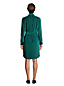 Women's Petite Sport Knit Cord Long Sleeve Button Front Dress