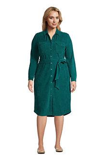 Blusenkleid aus Cord für Damen
