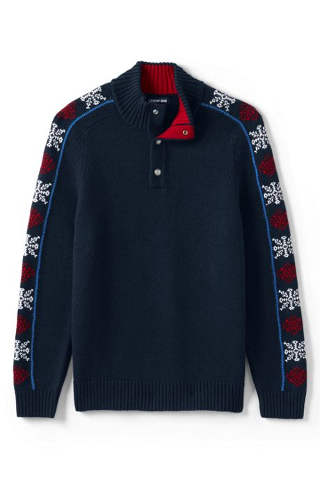 Men's Lighthouse Snap Neck Sweater