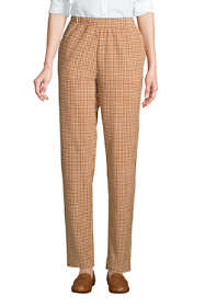 Women's Sport Knit Corduroy Elastic Waist Pants High Rise Pattern