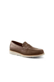 Men's Comfort Casual Leather Penny Loafers Wide