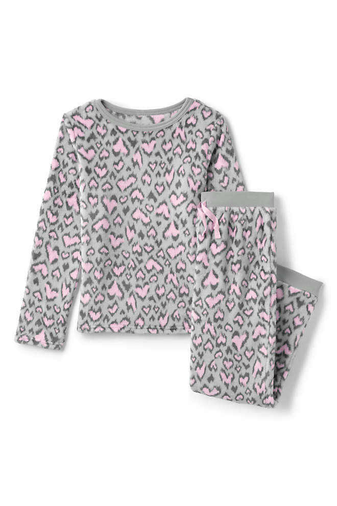 Toddler Girls Plush Fleece Pajama Set, Front