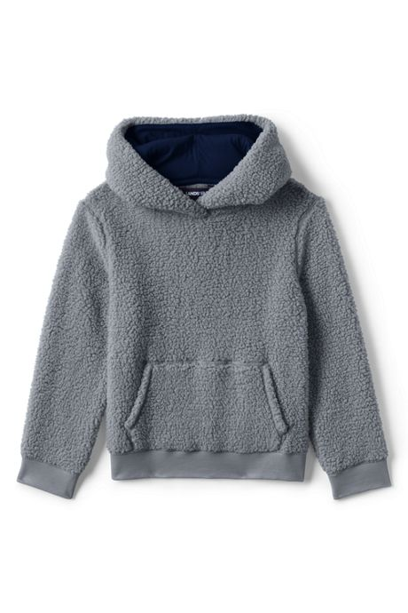 Toddler Kids Pull Over Sherpa Hoodie