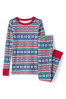 Schmal geschnittenes Pyjama-Set mit Muster für Kinder