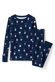 Toddler Kids Pattern Snug Fit Pajama Set, Front