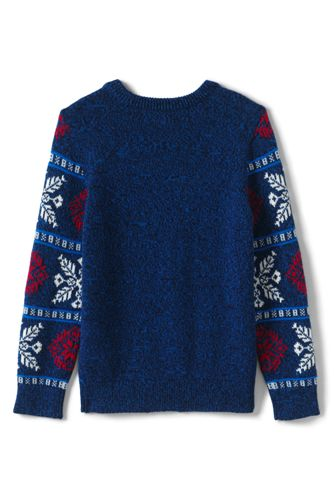 Boys Snowflake Crewneck Sweater