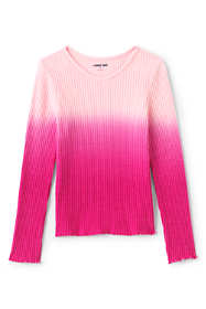 Girls Long Sleeve Waffle Top