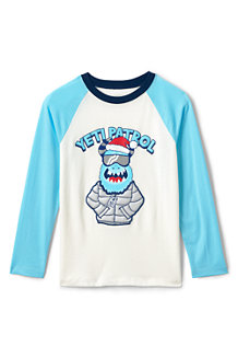 Boys' Long Sleeve Applique Graphic Tee
