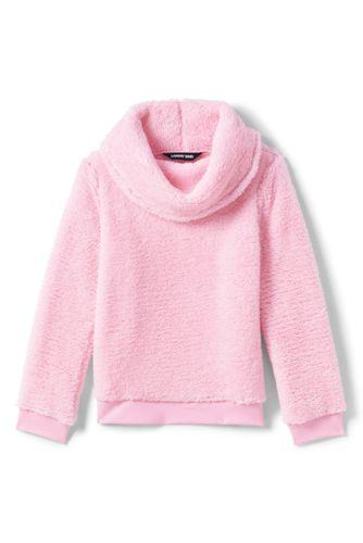 Sweatshirt en Polaire Peluchée Col Boule, Petite Fille