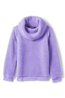 Girls' Fuzzy Cowl Neck Sweatshirt