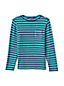Little Boys' Long Sleeve Brushed Tee, Stripes