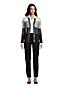 Jean 7/8  Droit Taille Haute Noir, Femme Stature Standard