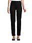 Schwarze Straight Fit Jeans High Waist, knöchellang für Damen