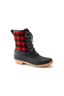 Duck Boots Chaudes Intérieur Polaire Sherpa, Femme Pied Standard