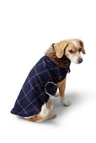 Dog Knit Plaid Jacket