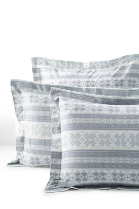 Velvet Flannel Printed Shams