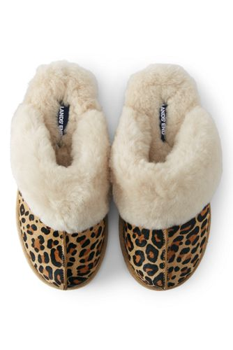Women's Leather/Shearling Mule Slippers