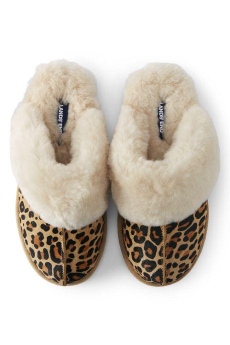 Women's Calf Hair Shearling Fur Scuff Slippers