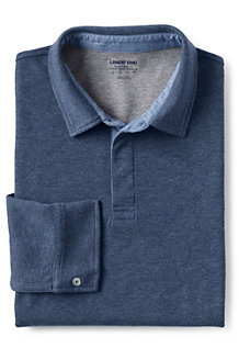 Langarm-Poloshirt aus Ponté-Jersey für Herren, Classic Fit