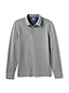 Men's Long Sleeve Polo With Woven Trim