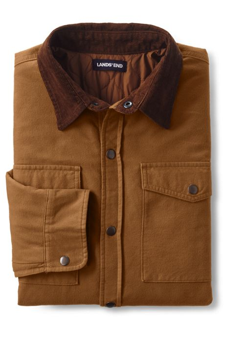 Men's Tall Moleskin Shirt Jacket