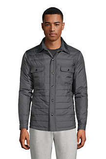 Men's Quilted Shirt Jacket