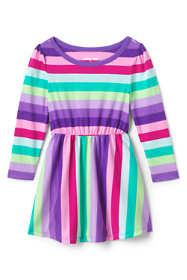 Toddler Girls Cinched Waist Pattern Dress