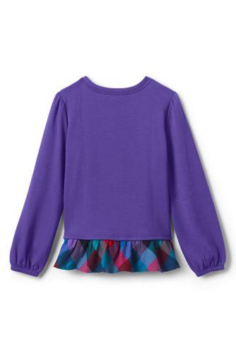Little Girls Sweatshirt and Ruffle Hem Top