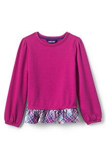 Girls' Sweatshirt and Ruffle Hem Top