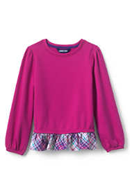 Little Girls Sweatshirt and Ruffle Hem Top