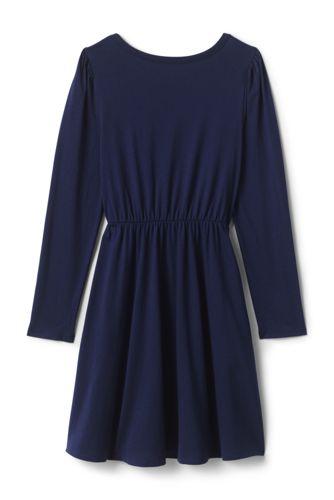 Girls Cinched Waist Pattern Dress