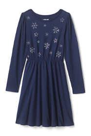 Little Girls Cinched Waist Pattern Dress