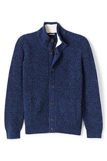 メンズ・ラムズウールブレンド・セータージャケット